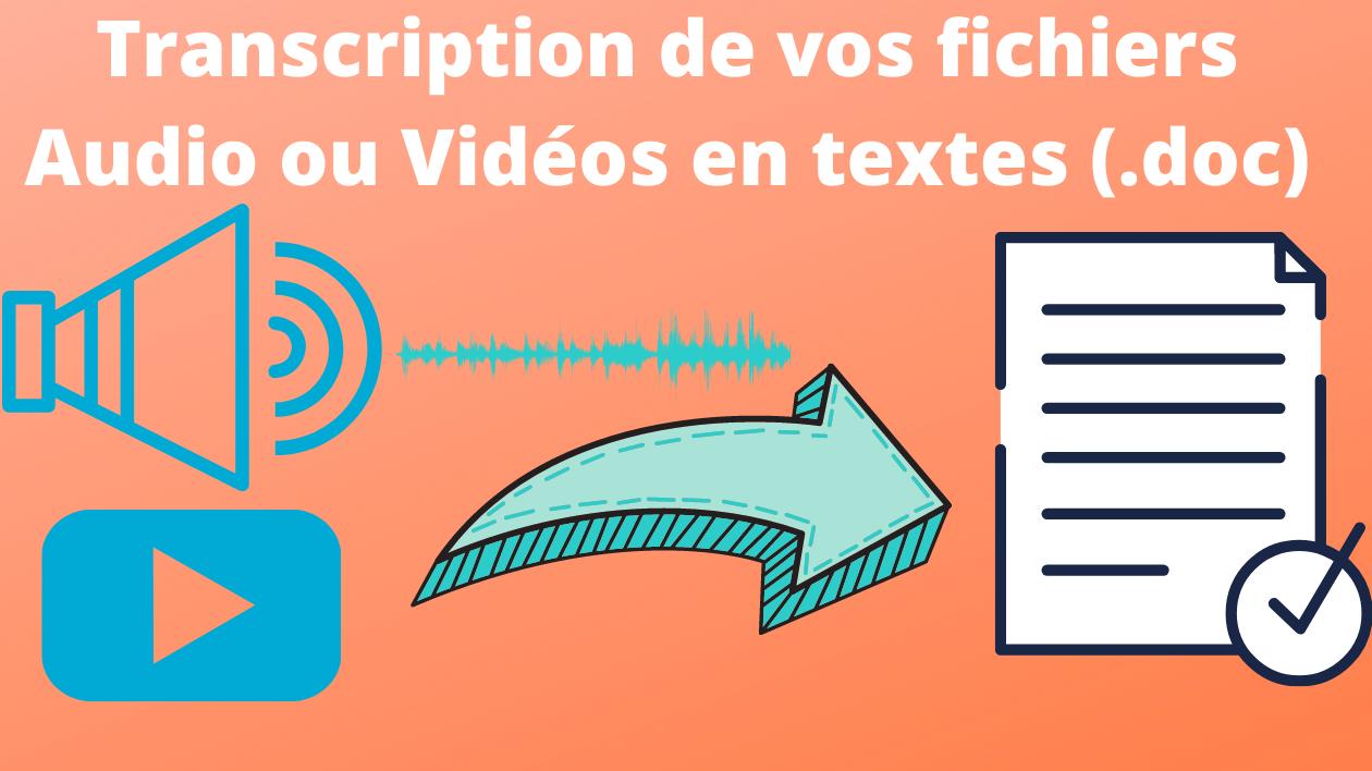 Je vais transcrire vos fichiers audio et vidéos en texte de 10 min