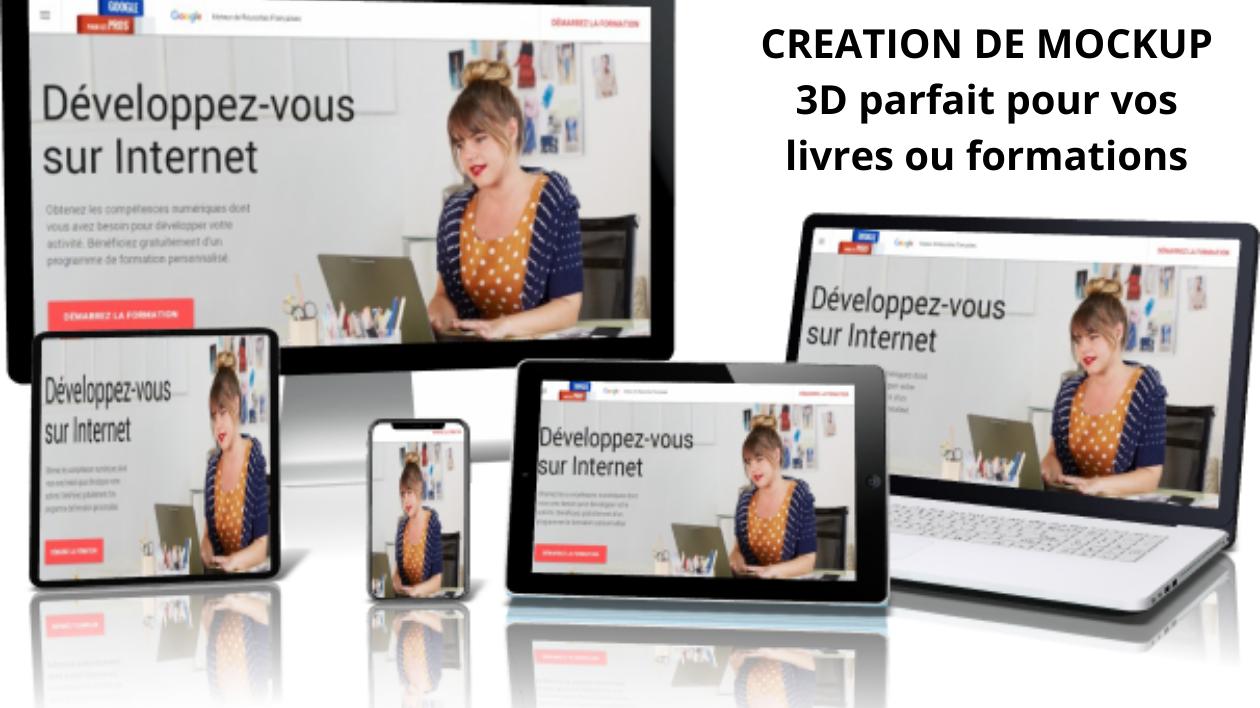 Création du MOCKUP 3D de votre livre, boite, application mobile ou formation